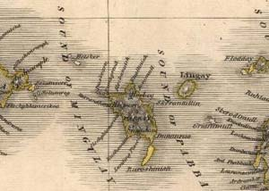 Fig. H4.5. Thomson's map of Pabaigh, dated 1820 (EMS.s.712(24c), courtesy of The Trustees of the National Library of Scotland) - click to enlarge