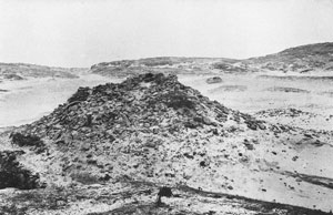 Fig. H4.6.The graveyard mound from the south, photographed in 1895 (SC 409419 © RCAHMS. Copied from 'Wanderings with a camera 1882-1898', by Erskine Beveridge)