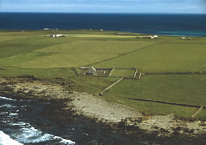 O2.2 Aerial view of St. Boniface Kirk and associated sites (JR) - click for a larger image